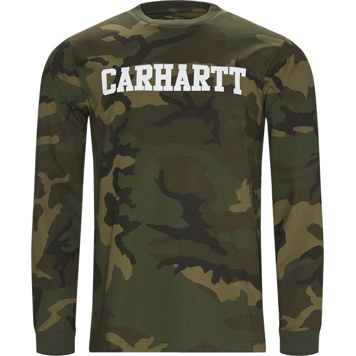 L/S College - T-shirts - Regular fit - Army